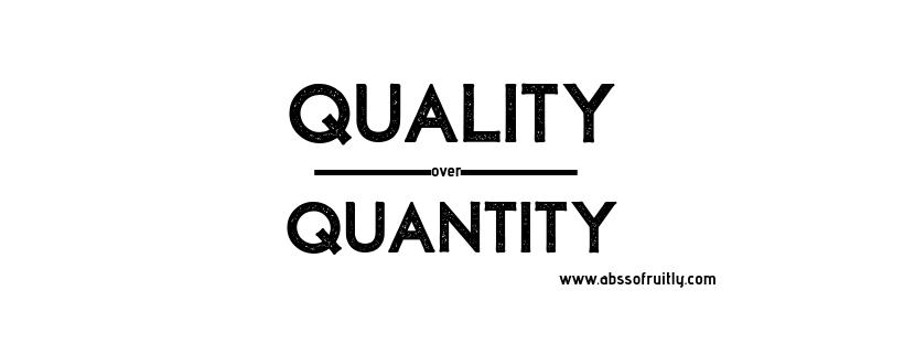 quality over quantity words