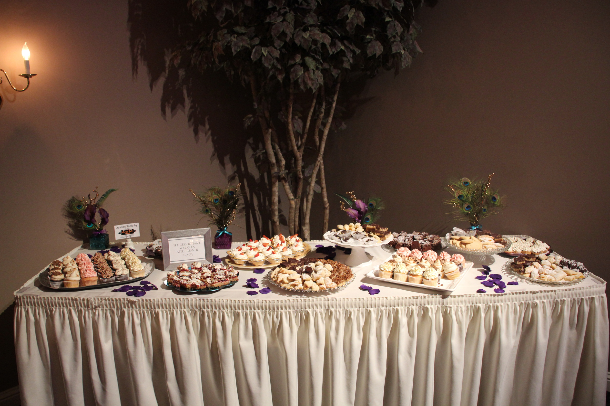 One of our famous specialty dessert tables available for weddings, showers or business events!  Sure to make everyone's night!