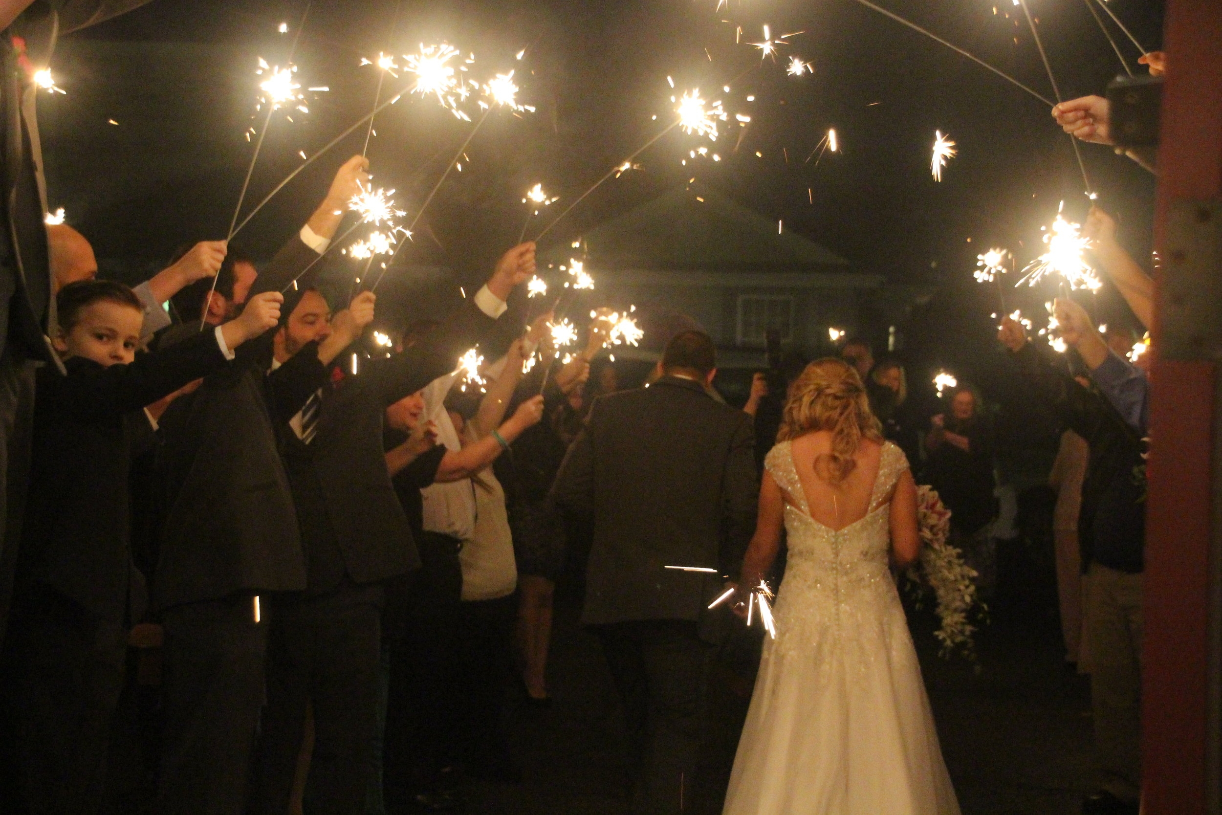 Sparkler Send Off!
