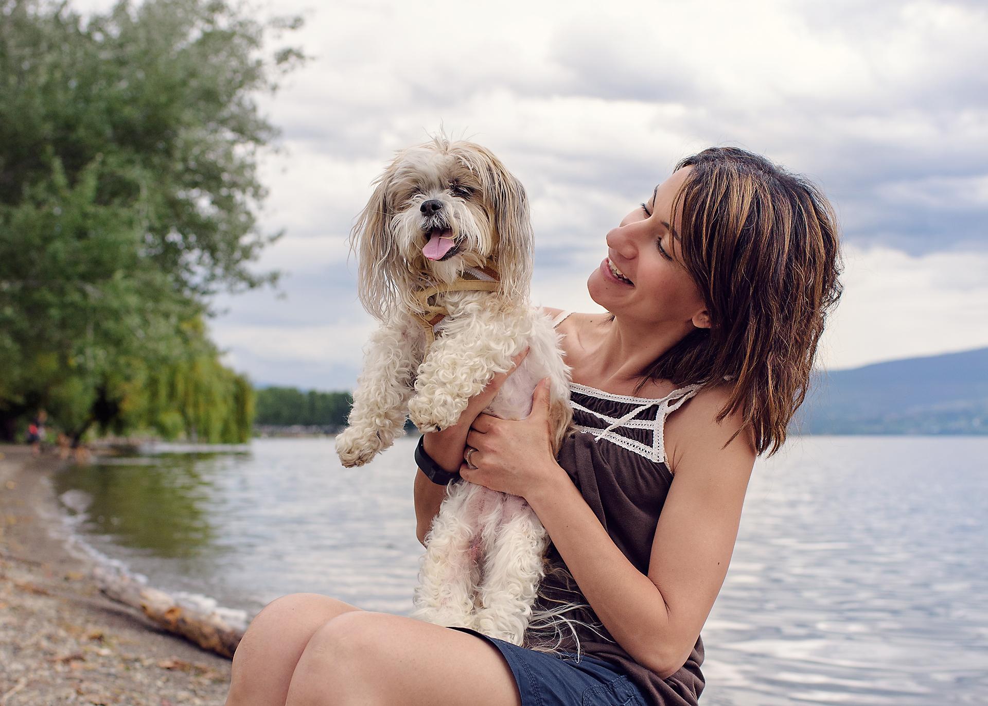 Nayla and her beloved dog, Pooch (2016)
