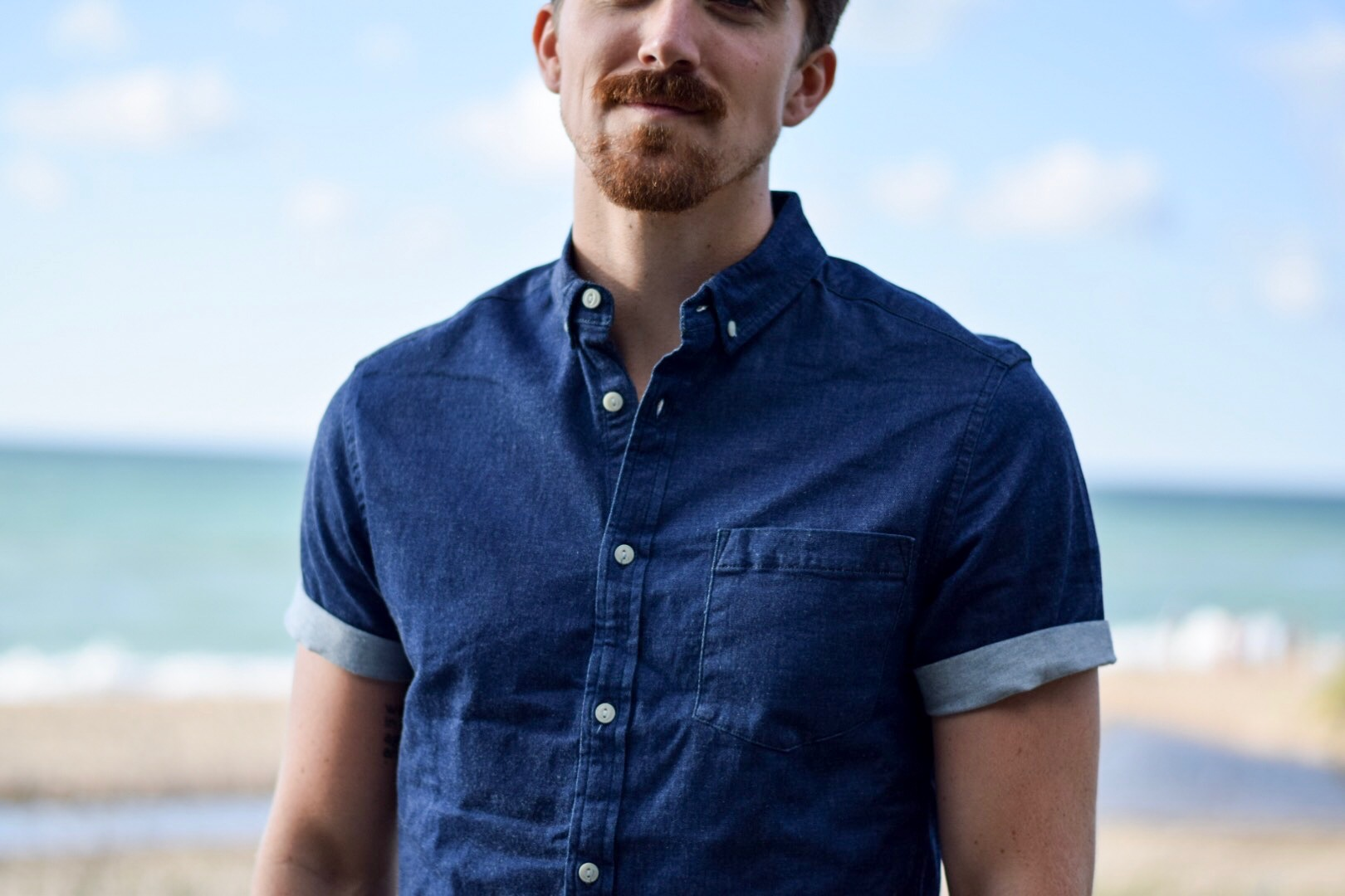 asos-slim-stretch-denim-shirt