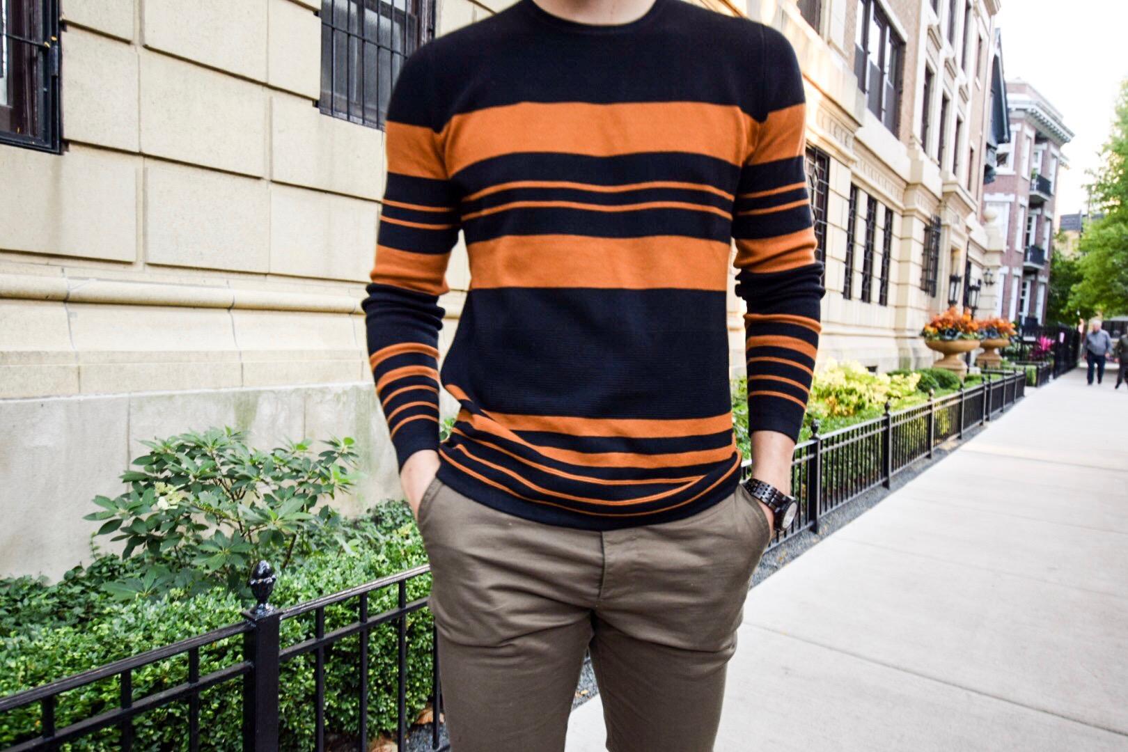 zara-black-orange-lightweight-sweater