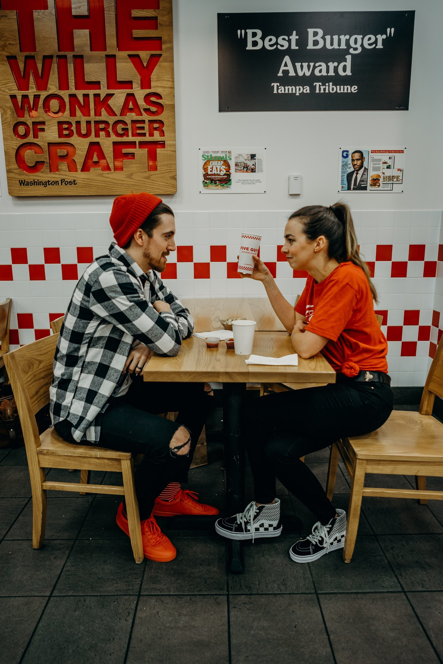 fun-red-black-casual-date-looks-him-and-her