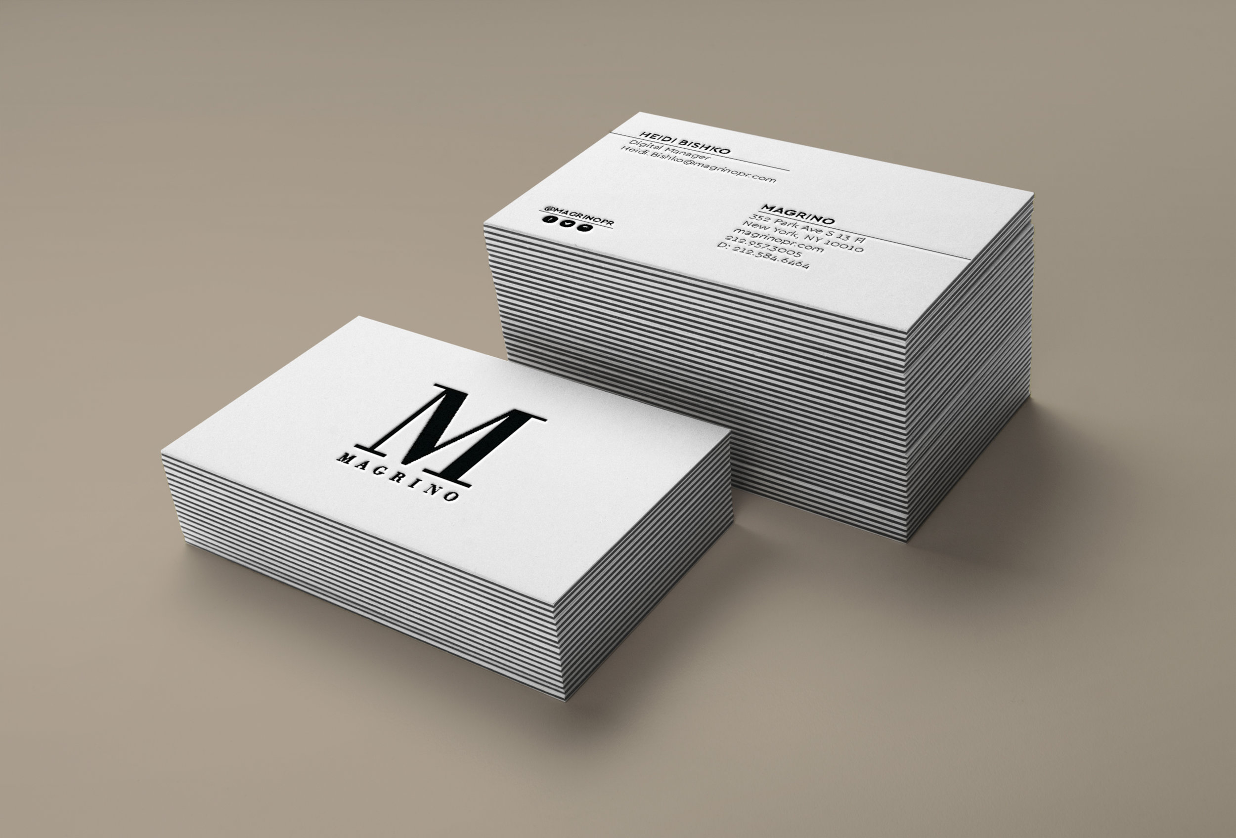 Business Cards redesign  Printed by GSB Digital