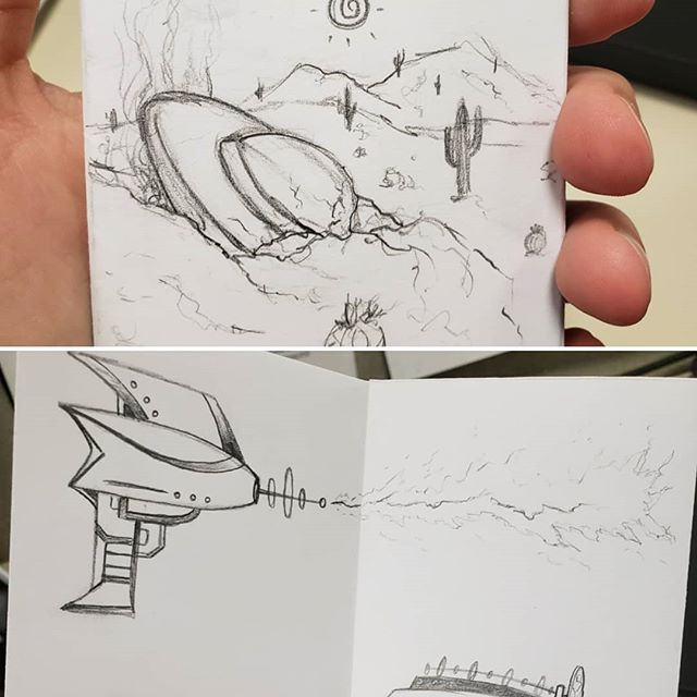 Workin on a little ufo zine! Here are a few sketch pics 👽 . . . . . #art #artistsoninstagram #artists_on_instagram #artist #wip #workinprogress #process #sketch #doodle #illustration #ufo #aliens #alien #zine #zines #azartist #phoenixartist #lgbtqartist #queerartist #weirdart #wecomeinpeace