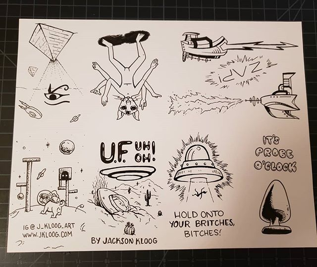 Got my U.F.UhOh zine all done! Just gotta make copies and fold em! 👽 . . . . . #art #artistsoninstagram #artists_on_instagram #artist #zine #zines #azartist #phoenixartist #lgbtqartist #queerartist #ufo #aliens #alien #space #outterspace #book #bookarts #surreal #weirdart #popsurrealism #illustration #ink