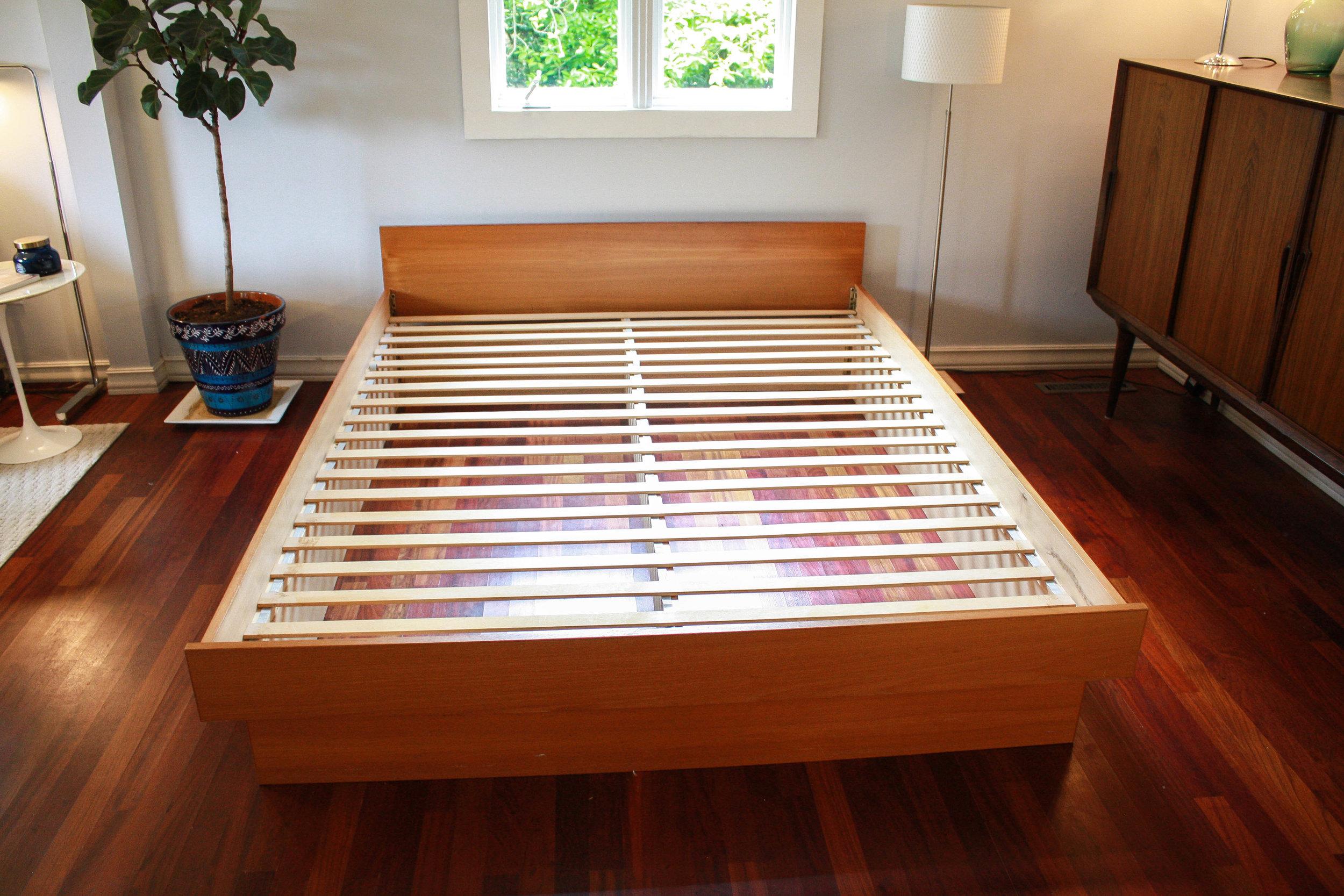 Danish Modern Queen Platform Bed Mid And Mod
