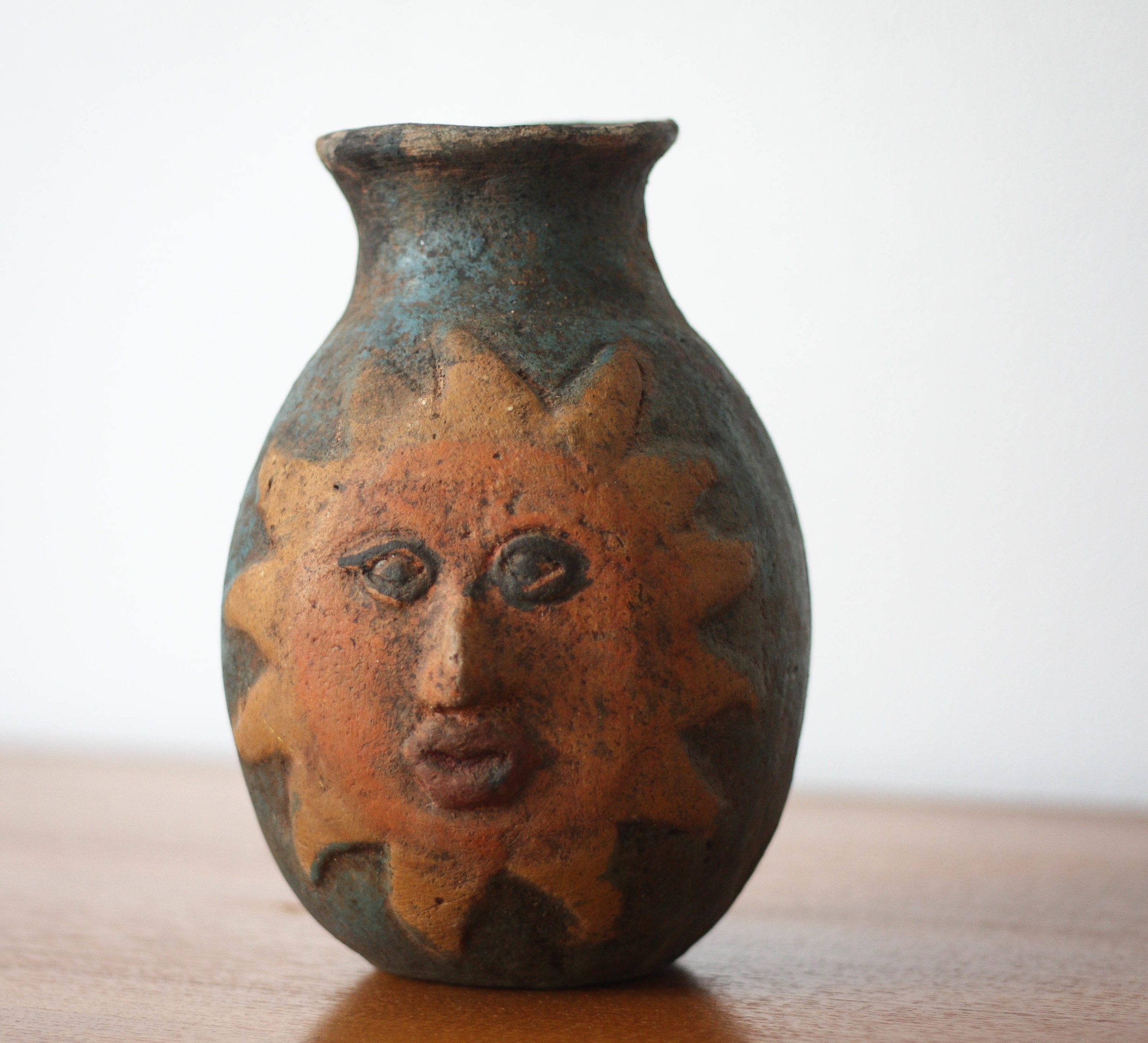 Mid Century Sun And Moon Ceramic Vase Sold Mid And Mod