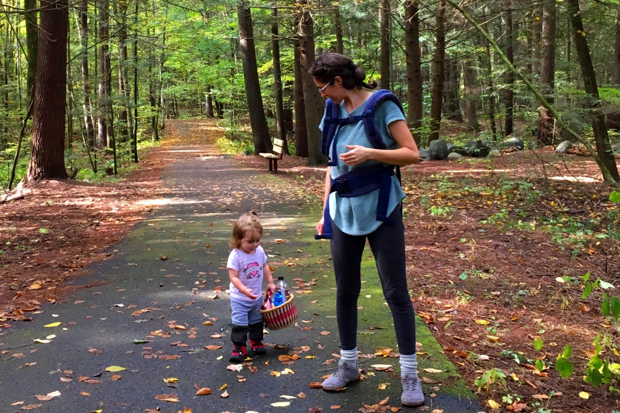 Stephanie and her daughter Juniper foraging for mushrooms in Northampton, MA. Photo credit: Gracie Janove