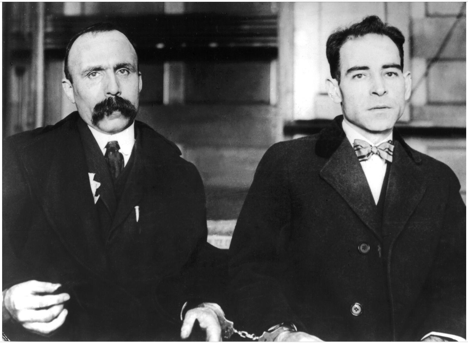 Bartolomeo Vanzetti (1888-1927) and Nicola Sacco (1891-1927).