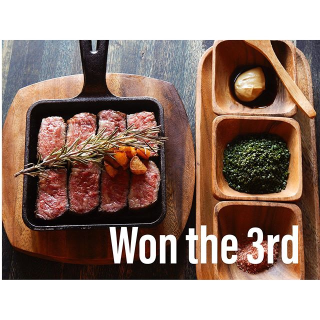 """-NEW MENU VOTE RESULT- Thank you for joining our NEW MENU ELECTION event!  It's announcement of vote result.  The 3rd place is """"TONIGHT's STEAK CUT"""" Number of votes is 403 points. 👏 👏 👏  The winning menu will be available from late July. looking forward to!  @takumenlic  #izakaya #japaneserestaurant  #japanesetapas #lic #longislandcity #lunch #dinner #ramen #ricebowl #annual #newmenuelection #result #steak #chives #dijonmustard #hotpeppersalt"""