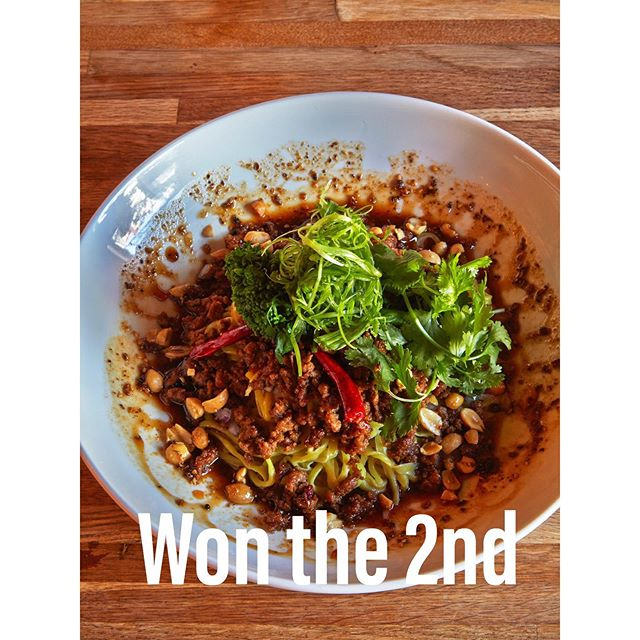 """-NEW MENU VOTE RESULT- Thank you for joining our NEW MENU ELECTION event!  It's announcement of vote result.  The 2nd place is """"SZECHUAN DAN DAN NOODLE"""" Number of votes is 415.5points. 👏 👏 👏  The winning menu will be available from late July. We will announce the day start by instagram@takumenlic  Stay tuned! #izakaya #japaneserestaurant  #japanesetapas #lic #longislandcity #lunch #dinner #ramen #ricebowl #annual #newmenuelection #result #coldnoodles #mincedpork #hotpeppers #szechuanpepper"""