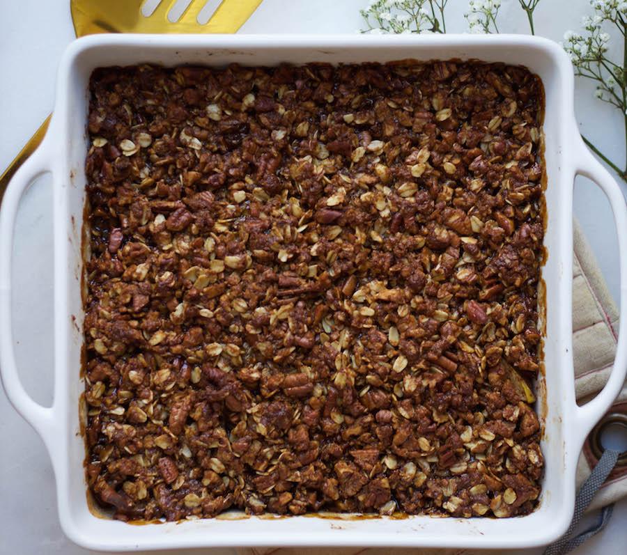 Gluten Free Pecan Apple Crisp