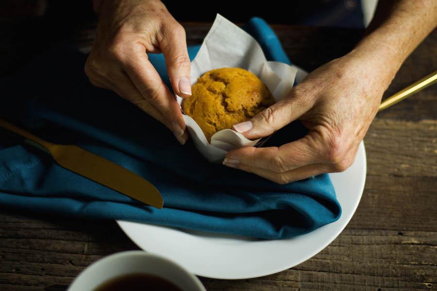 Warm Pumpkin Spice Muffin