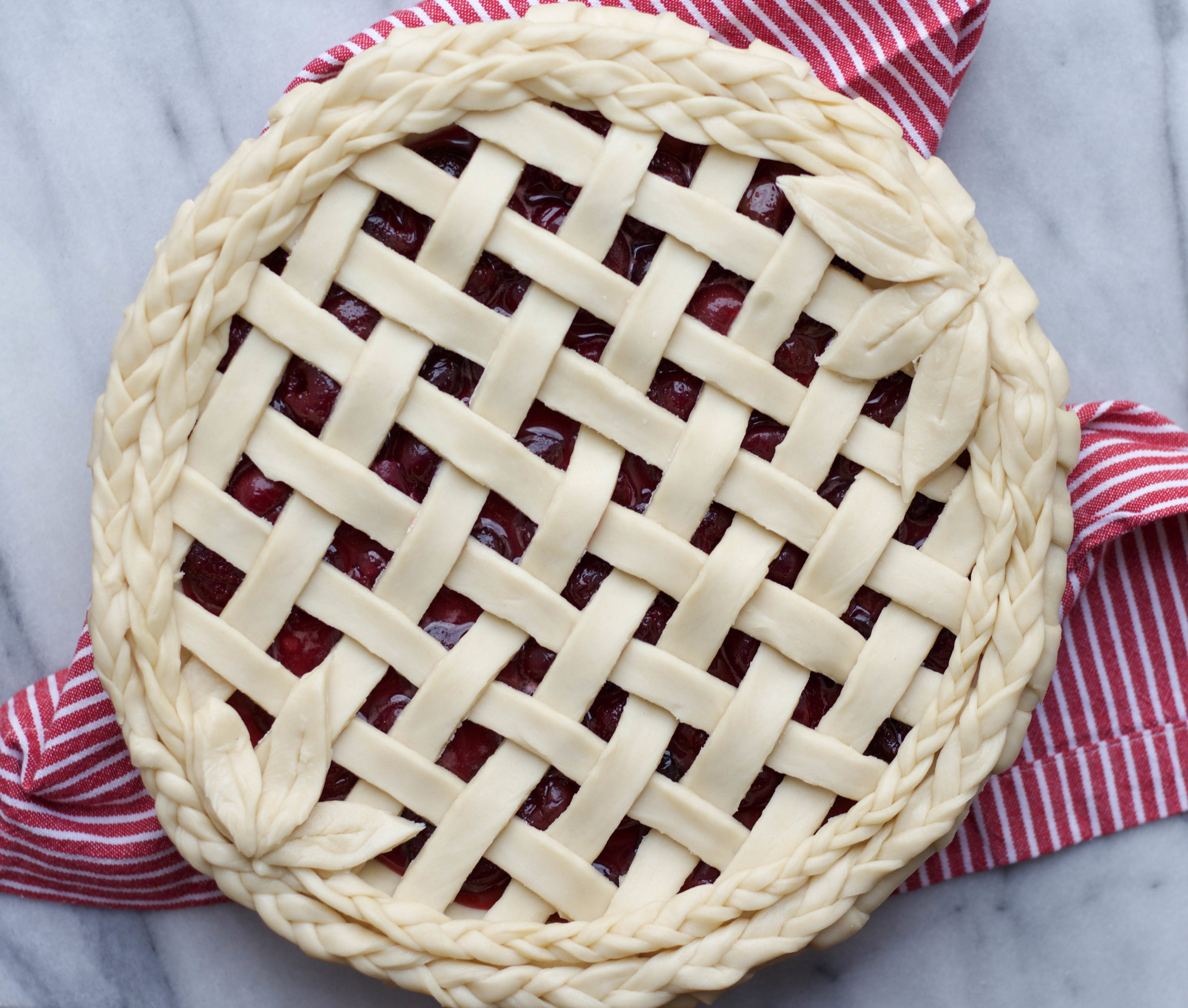 Cherry Pie with Braided Lattice Crust