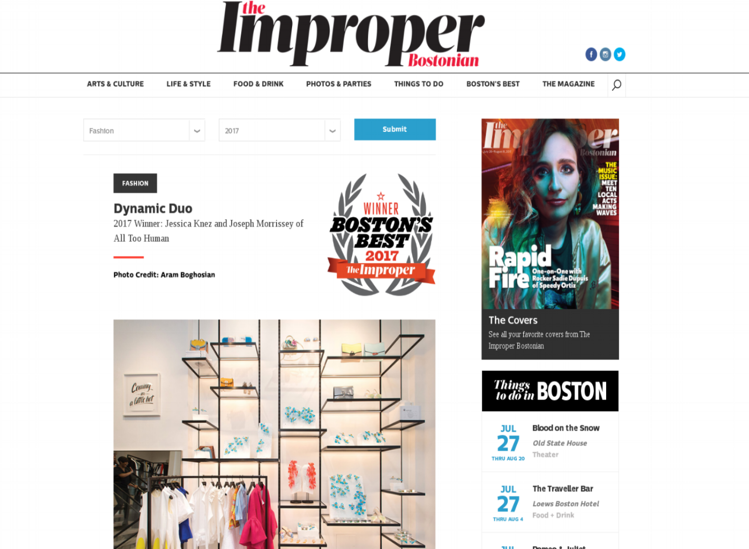 Improper Bostonian  , July 2017