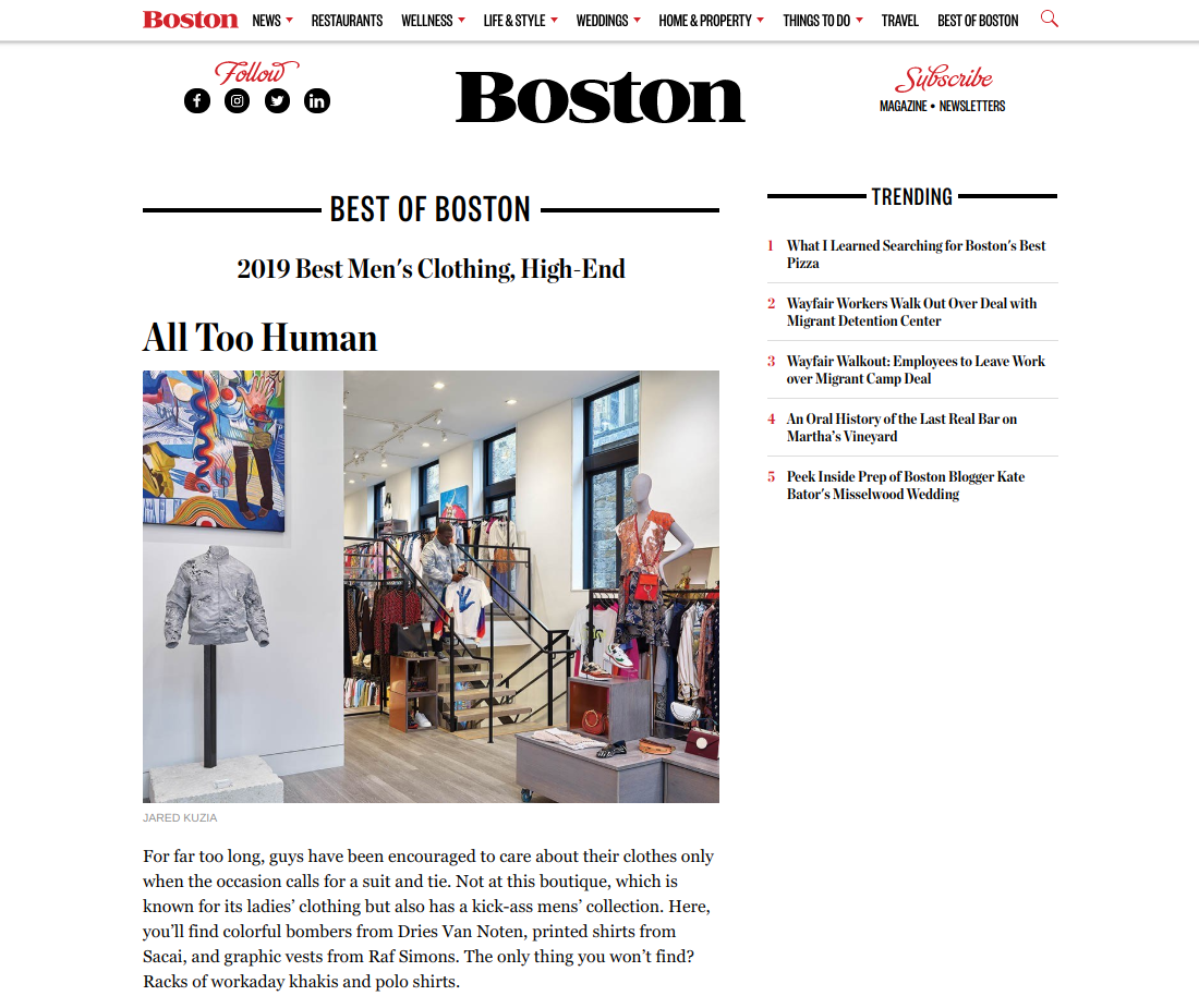 Boston Magazine , June 2019