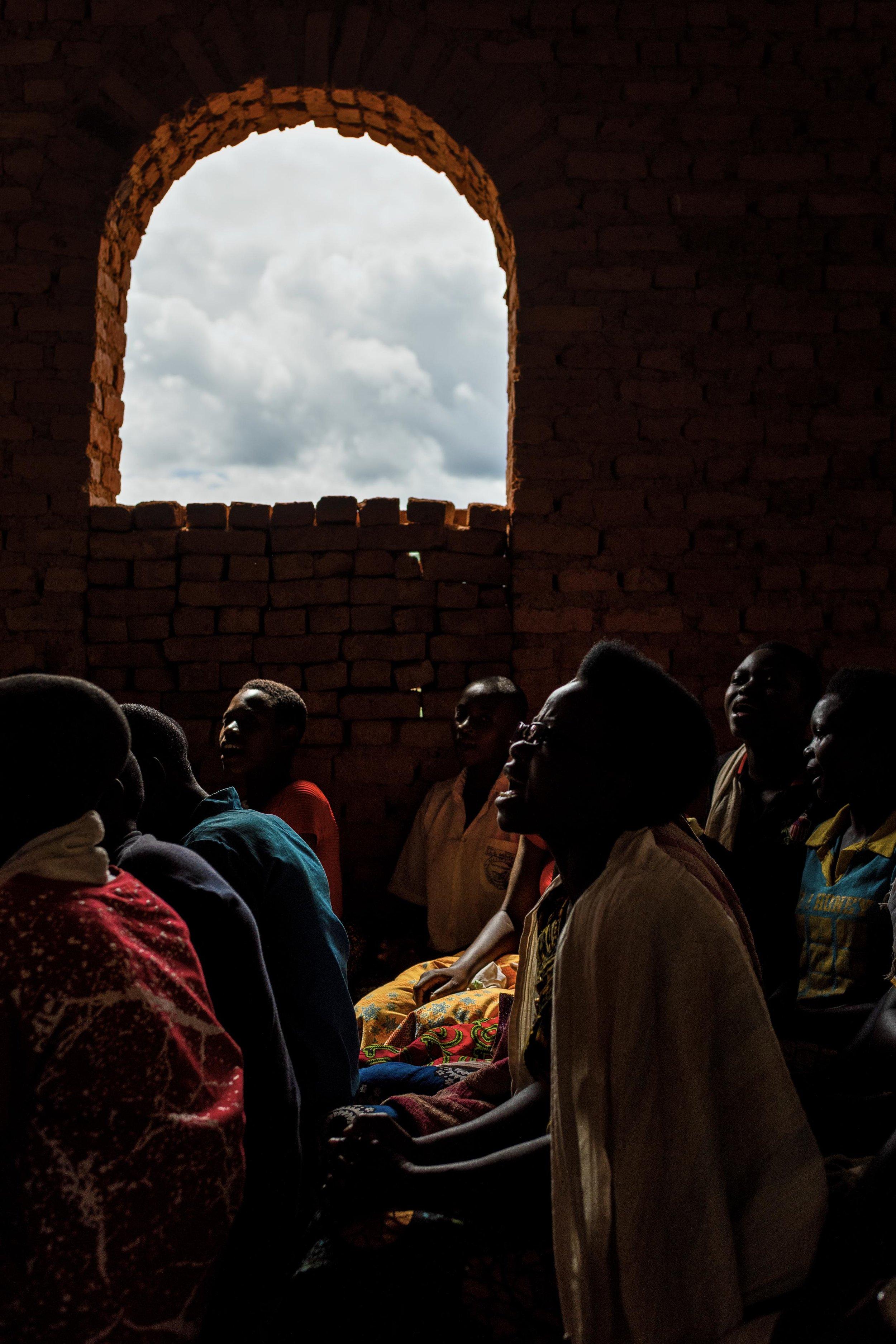 Sunday church choir in rural Burundi. 2019.