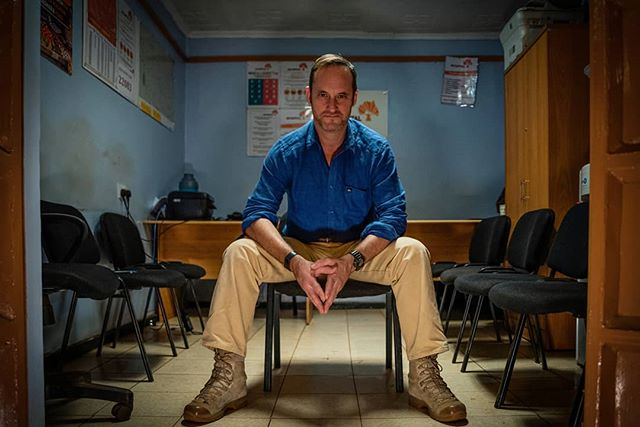 Wayne Hennessy-Barrett, 46, poses for a portrait in a 4G Capital office in Wangige Town, Kenya. The ex Major served in Afghanistan, Bosnia, Kosovo and Iraq before founding 4G Capital, a company that offers credit lines to small businesses in Kenya, in 2013. Despite no finance experience, Hennessy-Barrett has more than 300 employees in 70 outlets across Kenya. He often references military concepts and tactics to grow his business. On assignment for The Telegraph. . . . . . . . . . #nikond810 #development #news #kenya #photojournalism #militarylife #documentaryfilmmaking #instadaily #everydayeverywhere #everydayafrica #liveforthestory #photojournalism #magnumphotos #militarymen #people_infinity #military #thisweekoninstagram #OnAssignment #HartCollective #MyFeatureShoot #BalkanCollective #ReportageSpotlight #YourShotPhotographer #DocumentaryPhotography #FriendsInPerson @burnmagazine @theindependentphoto #gettyreportage #lensculturediscovery #womenstreetphotographers #independentphotography #spicollective