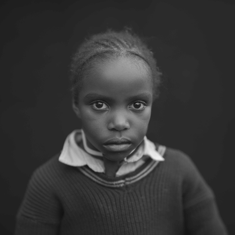 Ester Njeri: female, aged 7, Kikuyu community