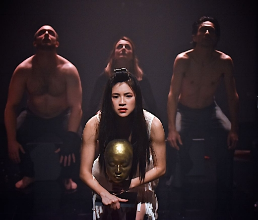 Performers:  Zachary Boulton, Caroline Dunphy,Noriaki Okubo and Kimie Tsukakoshi. Photo by Barbara Lowing.  HANAKO - Brisbane Festival 2016 .