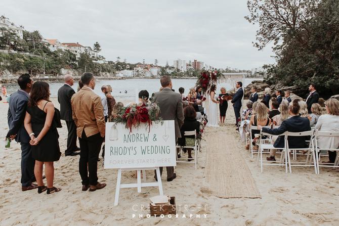 Shelly Beach Manly Wedding Ceremony