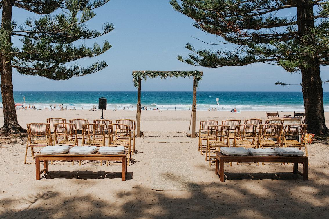 Whale Beach Wedding Ceremony