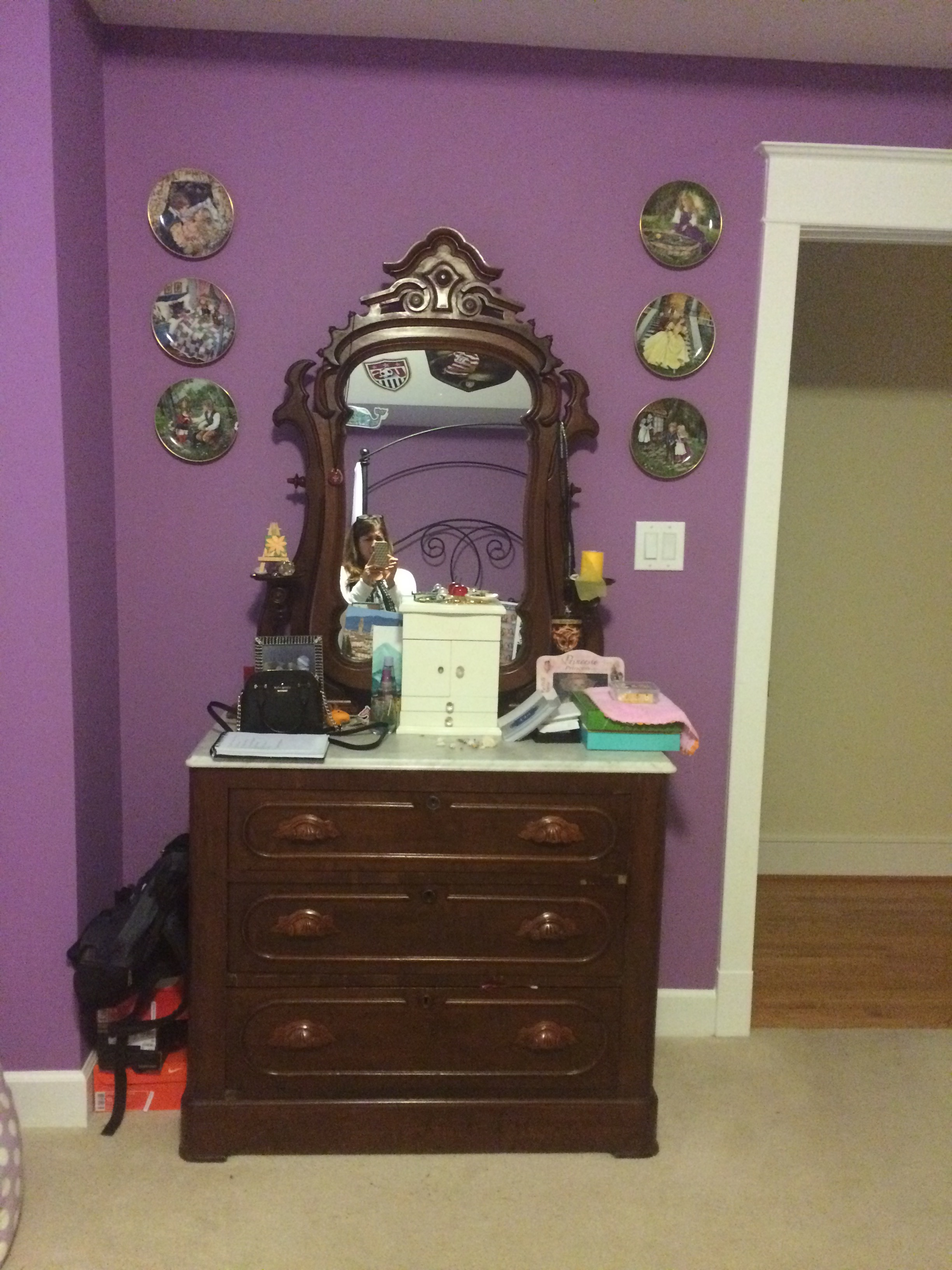 family heirloom dresser before