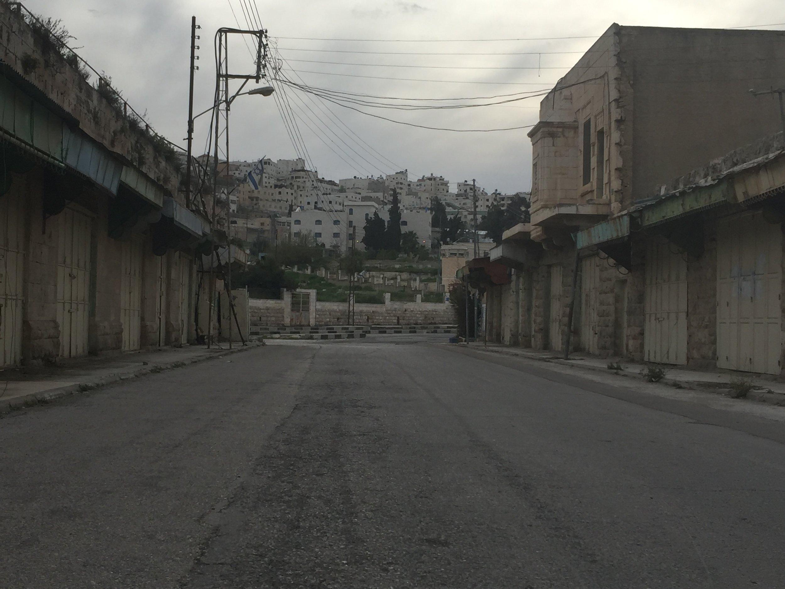 Matthew Williams/ The Conflict Archives: Al-Shuhada Stree, Hebron.