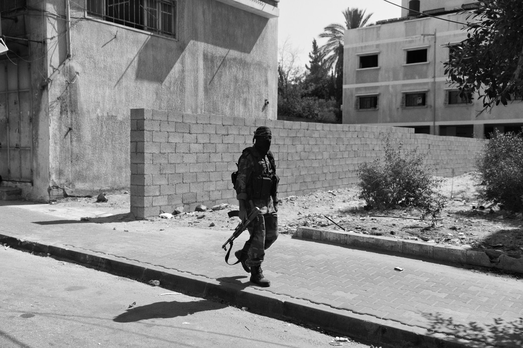© Paolo Pellegrin/Magnum Photos: An Islamic Jihad fighter in central Gaza a few days after the declaration of a cease-fire with Israel.Gaza 2014