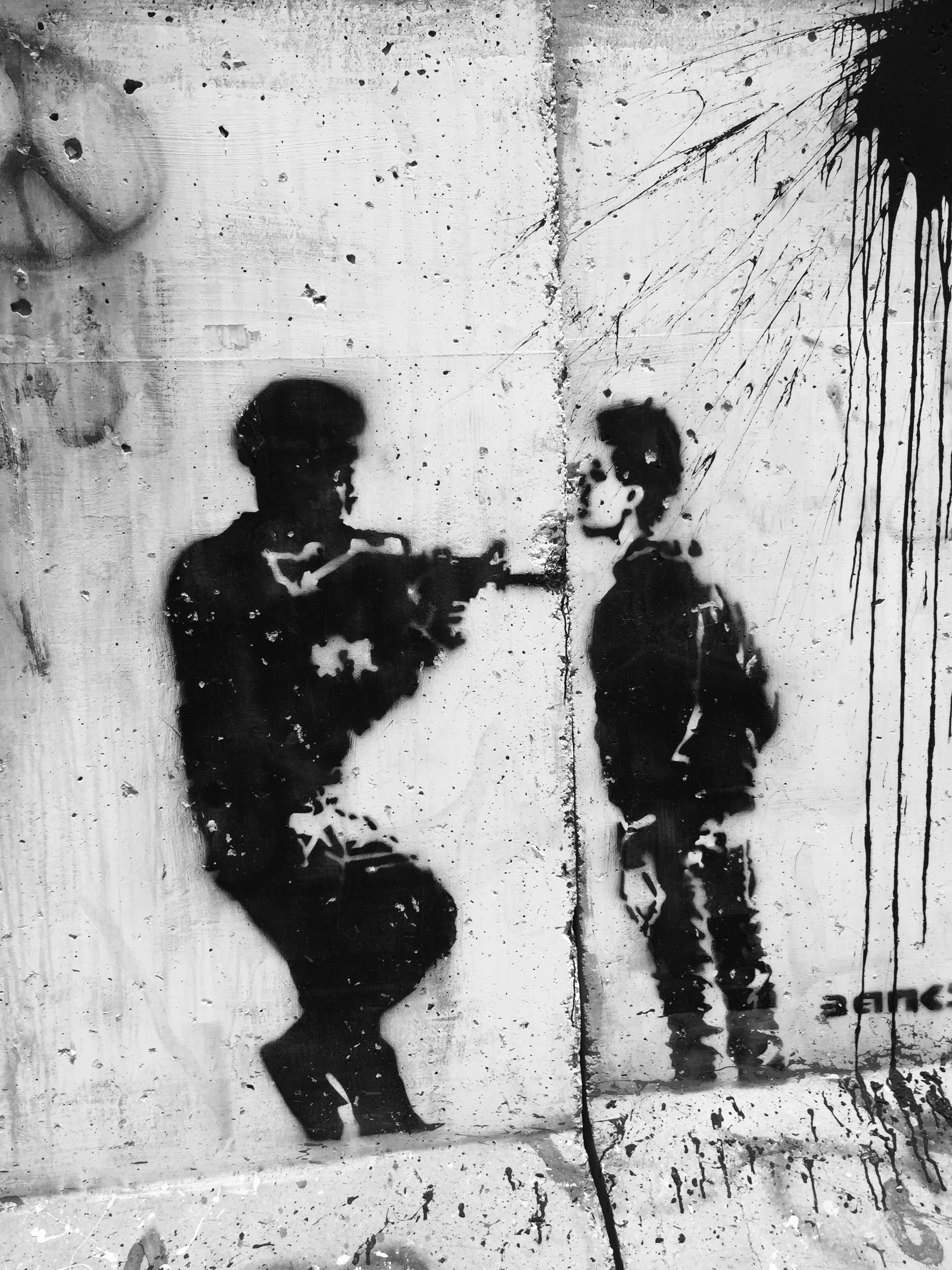 Matthew Williams/The Conflict Archives: Graffiti by Palestinians.