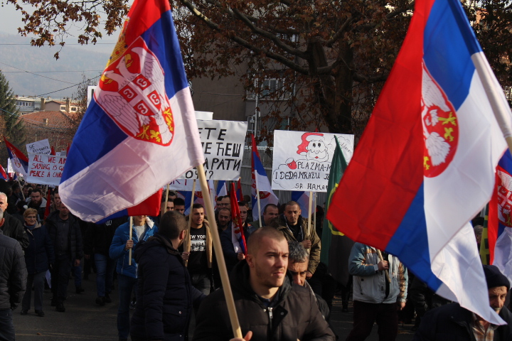 © Matthew Williams/The Conflict Archives: Another protest in Mitrovica, which have been ongoing since late November and Pristina's 100% tax on Bosnian and Serbian goods, begins.