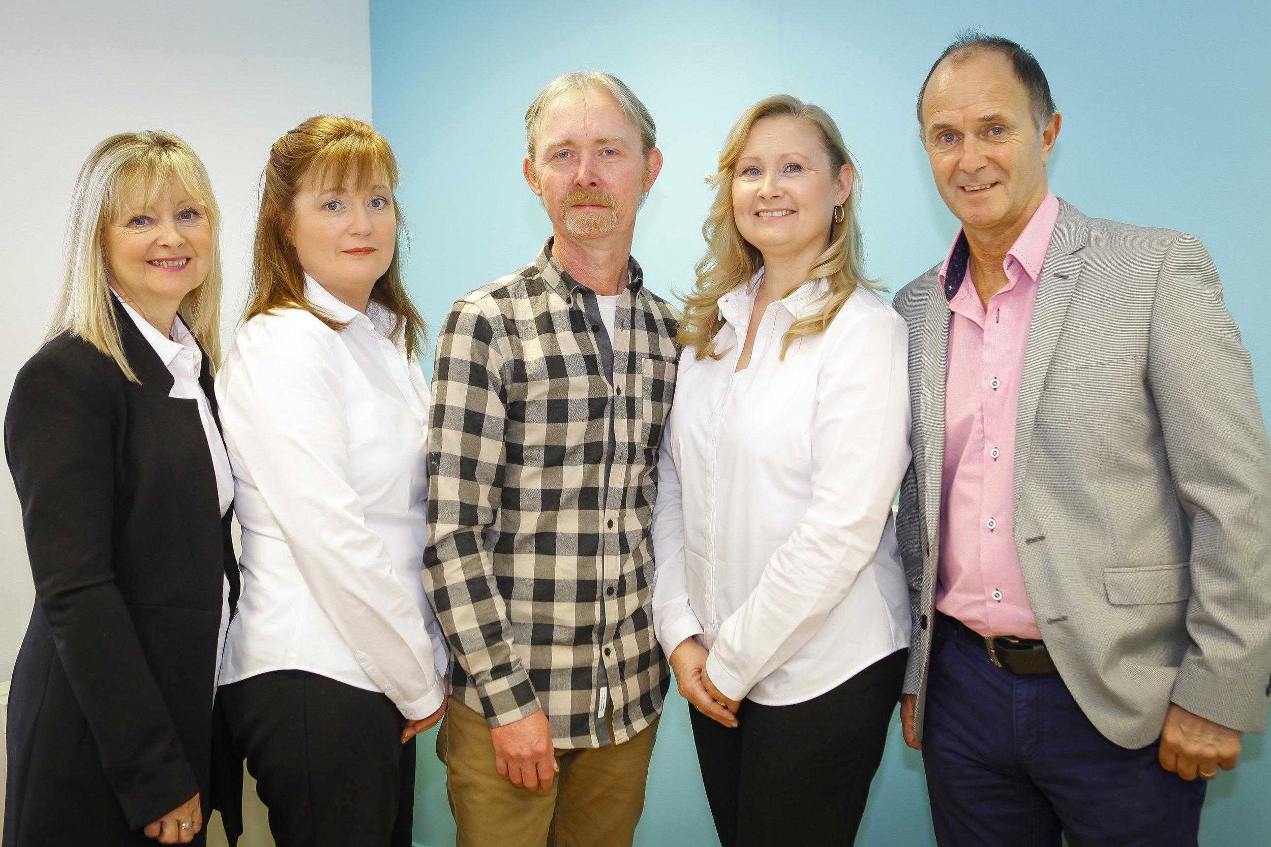 L - R Veronica, Teresa, Ray, Joan & Derek - The Waverley Academy