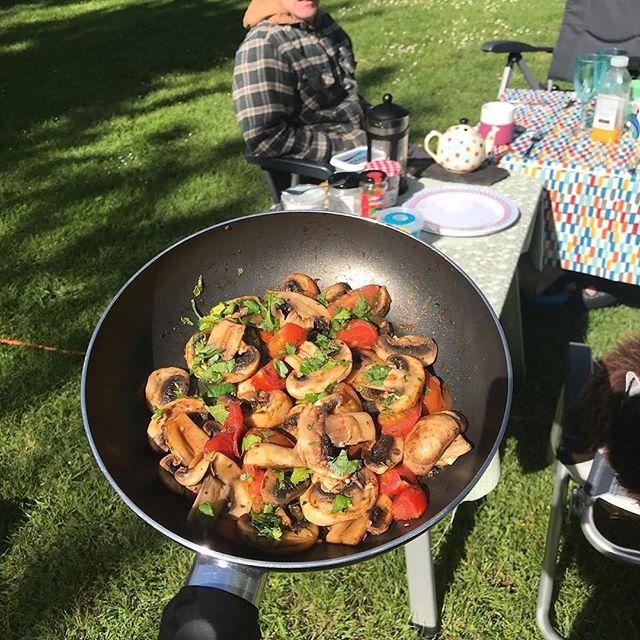 """Reposting @lucyshutes:⠀ ...⠀ """"Breakfast is served. #campervan #camping #vwcamperlife #france @lokocampers"""
