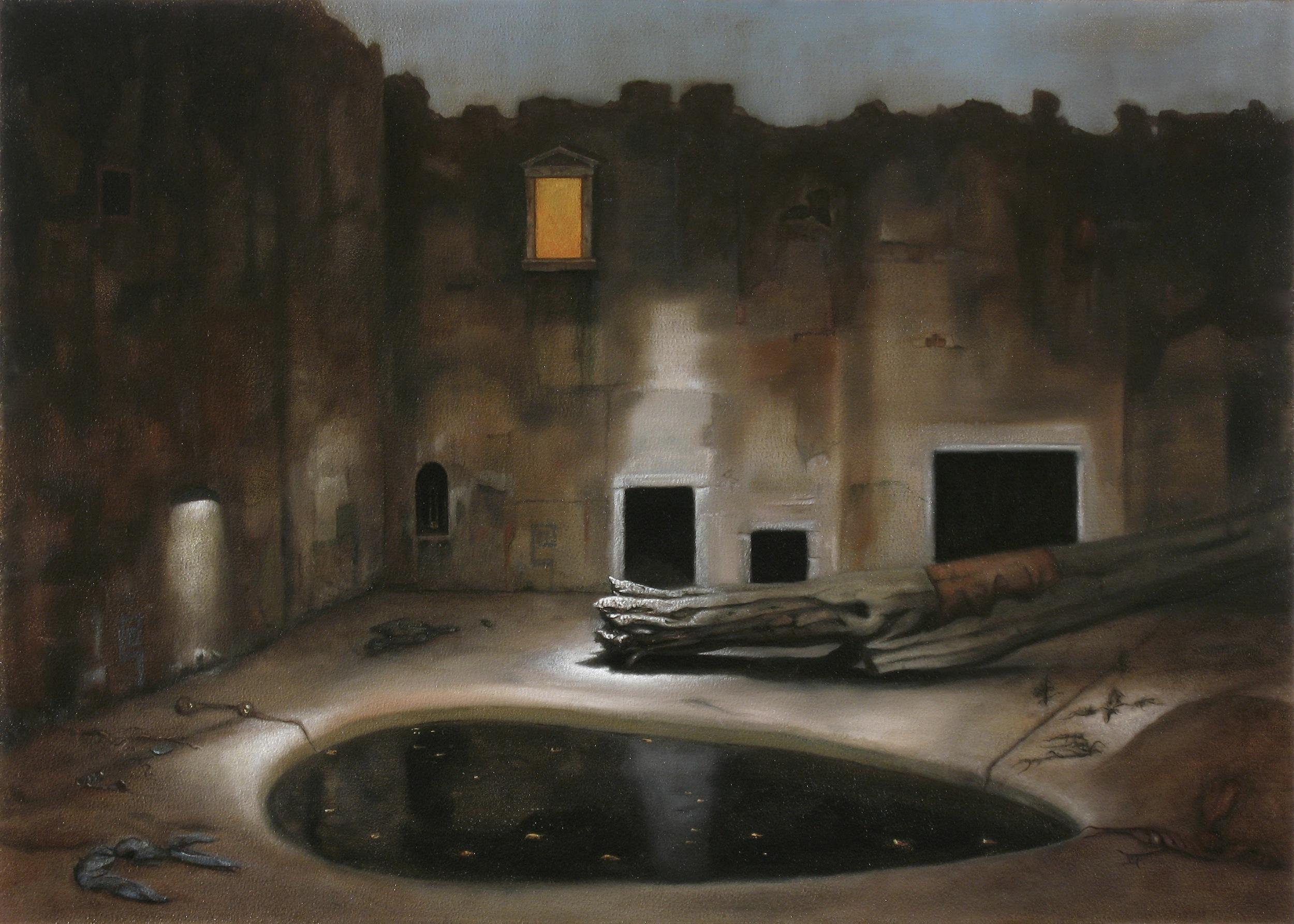 Dwelling, Oil on wood panel, 50 x 70cm, 2011