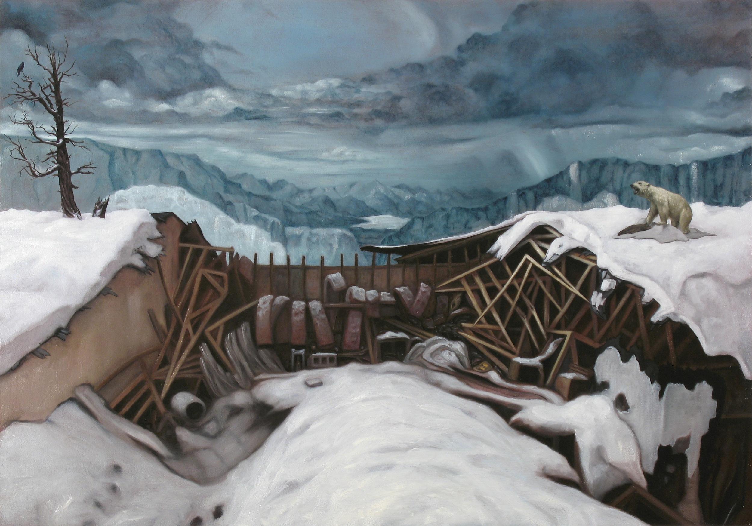 Snowfall, Oil on wood panel, 70x100cm, 2011