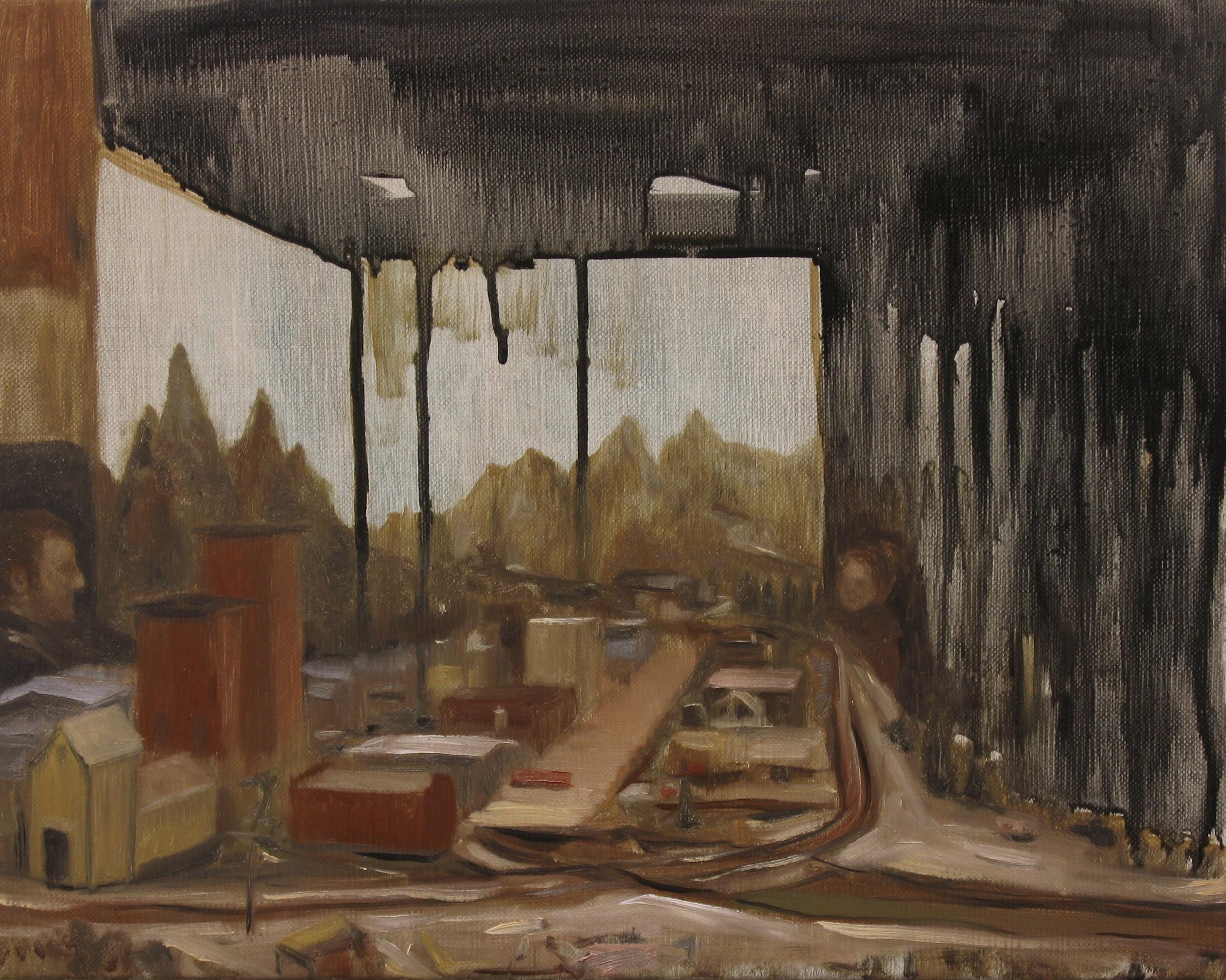Dreamland, Oil on linen, 24 x 30cm, 2013