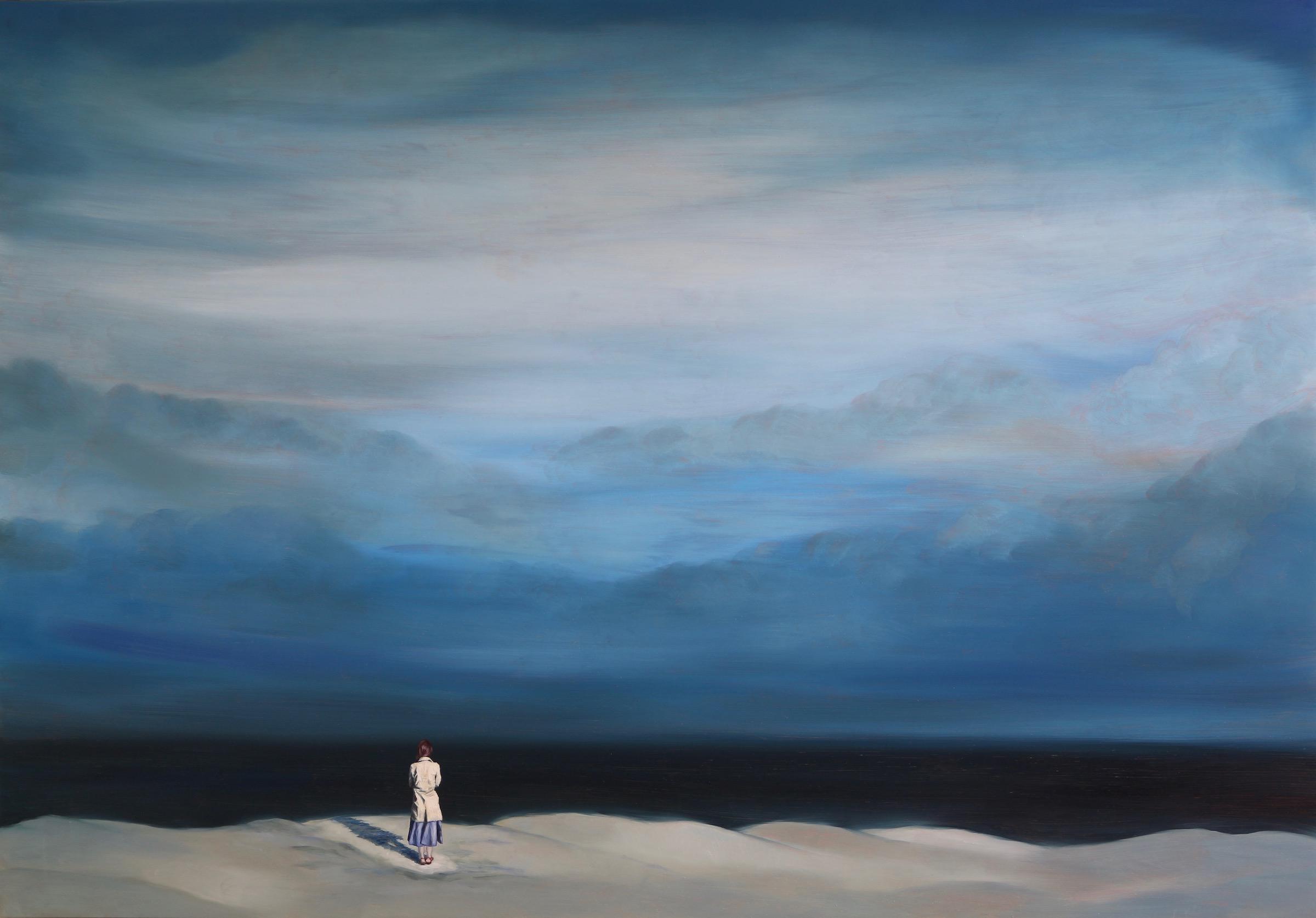 The Silent Sea, Oil on wood panel, 70x100cm, 2017