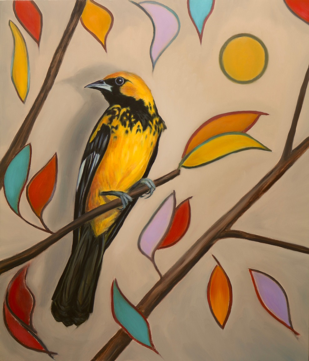 The Golden Songbird, oil on linen, 70x60cm, 2018