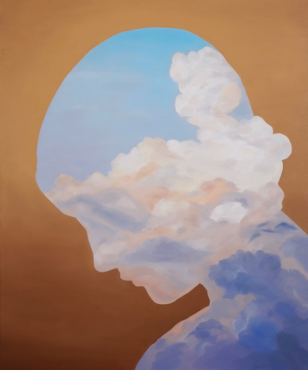 Within the Clouds, Oil on canvas, 60x50cm, 2018