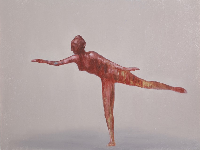 The Dancer, oil on paper, 31 x 41cm, 2018