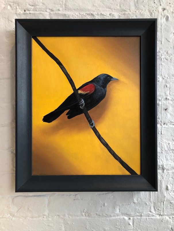 The Quiet Bird framed
