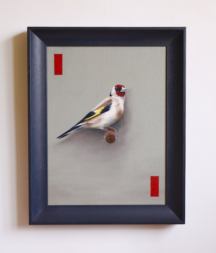 The Goldfinch framed