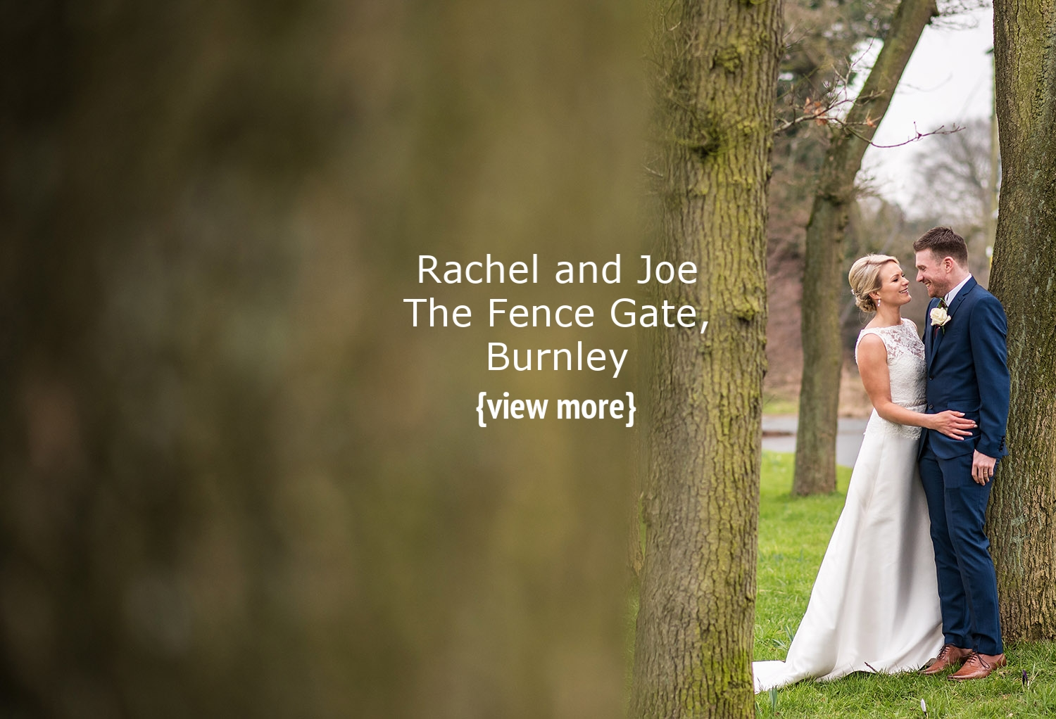 Fence Gate wedding couple by tree