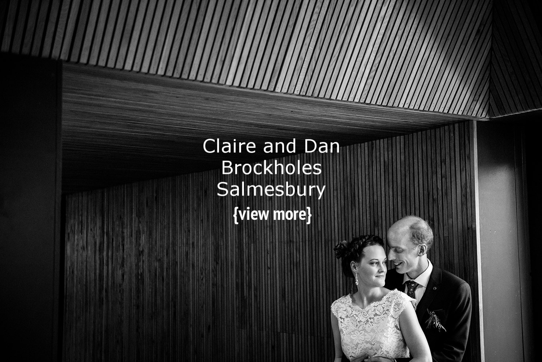 Brockholes wedding couple black and white