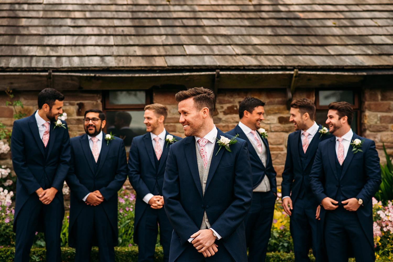 colour photo of groomsmen