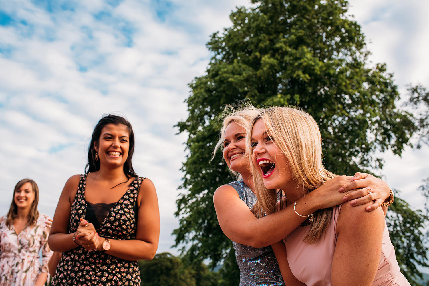 colour photo girls laughing