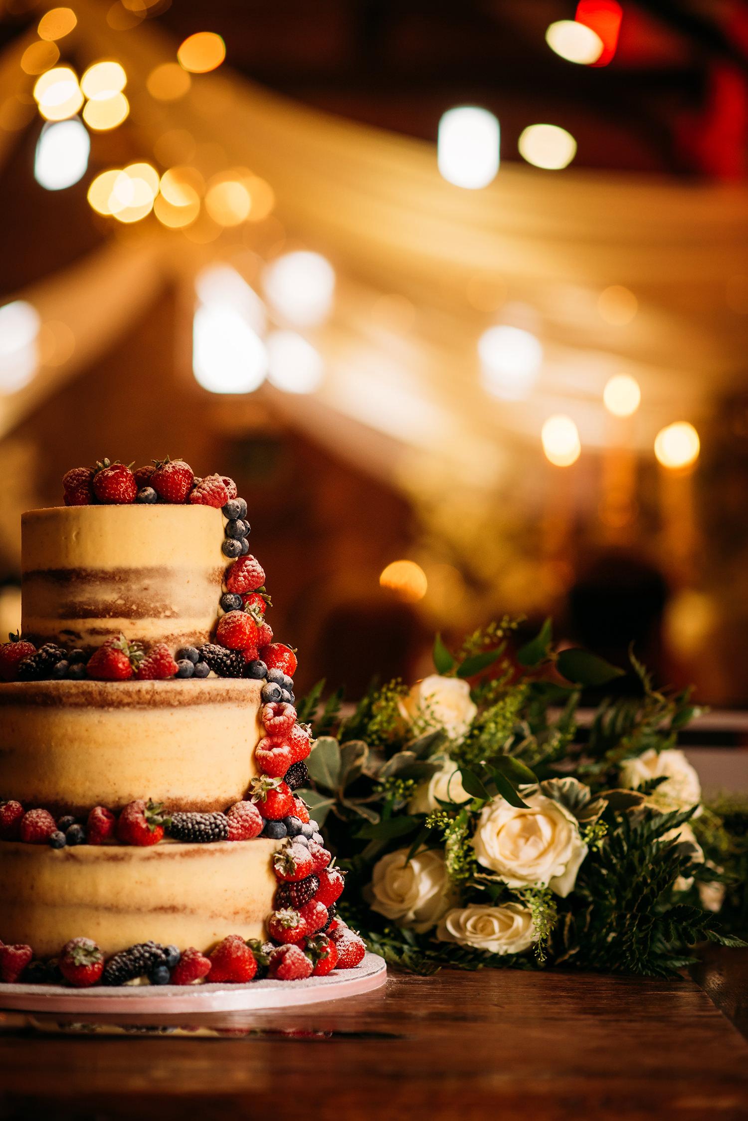 colour photo wedding cake