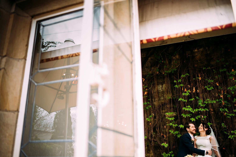 couple through the window