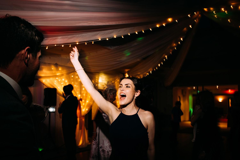 girl partying on the dancefloor